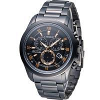 星辰 CITIZEN 光動能雙時區萬年曆限定腕錶 BL5545-50E 黑