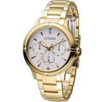 星辰 CITIZEN 光動能純靜之美時尚腕錶 FD2032-55A 金色