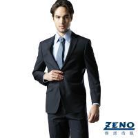 ZENO傑諾 絲光精緻毛料西裝外套‧藍光直紋