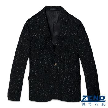 ZENO傑諾 都會型男時尚休閒西裝外套‧黑色46~50