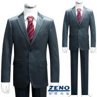 ZENO傑諾 型男時尚修身成套西裝/平口褲‧土耳其藍