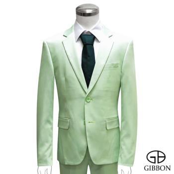GIBBON 都會時尚修身西裝外套‧淺綠46~50