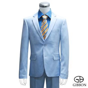 GIBBON 都會時尚修身西裝外套‧天藍46~50