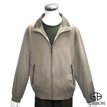 GIBBON 百搭立領雙層口袋輕薄外套‧褐色L~XL