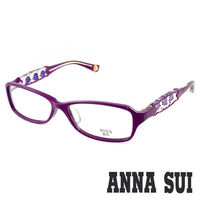 Anna Sui 安娜蘇 經典紫薔薇祕密花園造型眼鏡(紫色) AS519-1700