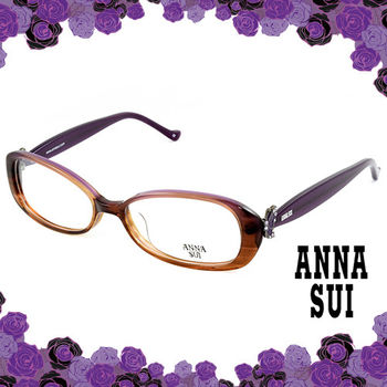 Anna Sui 安娜蘇 祕密花園古典紫蝶造型眼鏡(茶色) AS515-1700