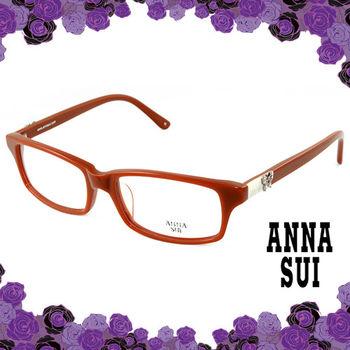 Anna Sui 安娜蘇 經典薔薇金屬蝴蝶花園造型眼鏡(茶色) AS521135