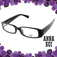 Anna Sui 安娜蘇 經典花園紫色薔薇造型眼鏡(黑色) AS509001