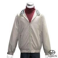 GIBBON 防潑水透氣輕薄連帽外套‧卡其白M~XL