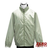 ZENO傑諾 防風繡字輕薄外套‧淡綠色L~XL