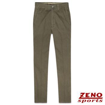 ZENO傑諾 層次條紋修身無摺休閒長褲‧咖啡31~42
