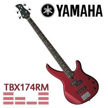 【YAMAHA 山葉】TRBX系列電貝斯/紅色-公司貨 (TRBX174 RM)