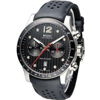 美度 MIDO Multifort 先鋒系列60小時計時機械錶 M0256271606100 黑
