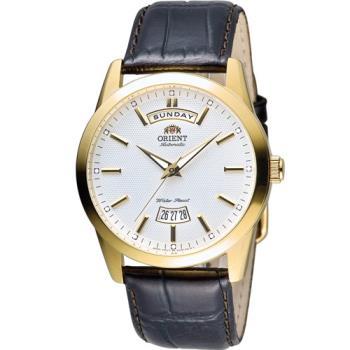 ORIENT WILD CALENDAR 系列 Day, Date機械腕錶 FEV0S001W 金色