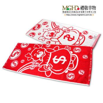 MGHD|喜從天降厚款提花毛巾(2入組)
