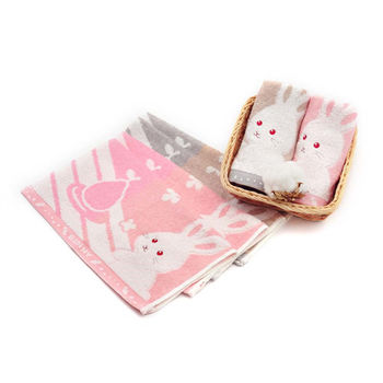 MGHD|寶貝寵兒無撚紗BUNNY兔方巾(6入)
