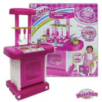 手提式聲光音樂廚具台組(粉色)008-56