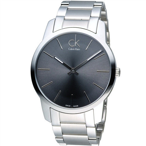 CK Calvin Klein 經典簡約石英腕錶 K2G21161 黑