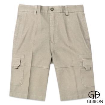 GIBBON 率性魔鬼氈附合口袋短褲‧卡其30~42