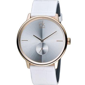 Calvin Klein Unisex Accent 獨立式小秒針時尚腕錶 K2Y216K6