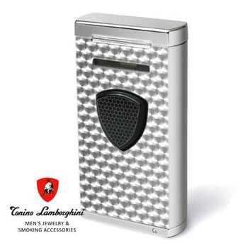 義大利 藍寶堅尼精品 - 附雪茄圓剪PERGUSA LIGHTER 打火機(銀色) ★ Tonino Lamborghini 原廠進口 ★