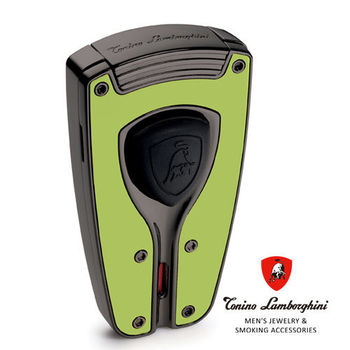 義大利 藍寶堅尼精品 - FORZA LIGHTER 極限競速 打火機(綠色) ★ Tonino Lamborghini 原廠進口 ★