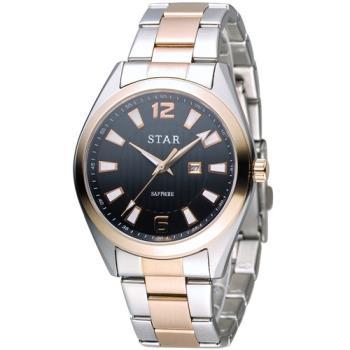 STAR 時代 永恆時光紳士腕錶 9T1602-231RG-D 玫瑰金色x黑