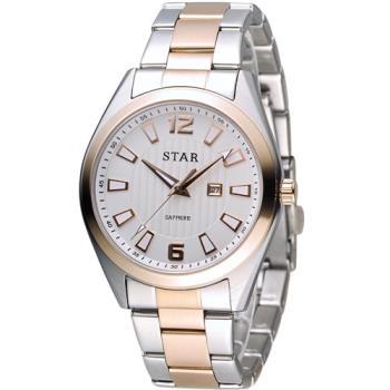 STAR 時代 永恆時光紳士腕錶 9T1602-231RG-W 白x玫瑰金色