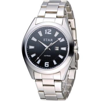 STAR 時代 永恆時光紳士腕錶 9T1602-231S-D 黑