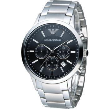 EMPORIO ARMANI Classic 時尚計時腕錶 AR2434 黑色