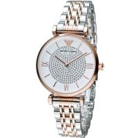 EMPORIO ARMANI 晶鑽優雅時尚腕錶 AR1926 雙色