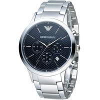 EMPORIO ARMANI Classic 都會型男計時腕錶 AR2486 黑