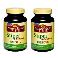 【NatureMade萊萃美】超級B群加C錠 100粒x2瓶