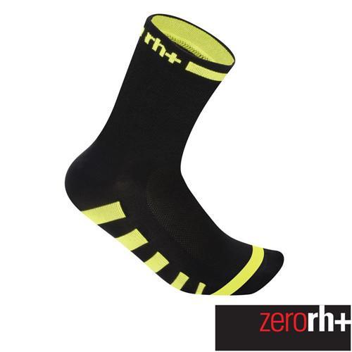 ZeroRH+ 義大利ERGO高筒運動襪(13 cm) ●黑/白、黑/黃● ECX9093