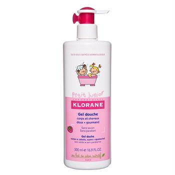 KLORANE蔻蘿蘭 兒童甜蜜莓果洗髮沐浴精 500ml 含棉花籽油