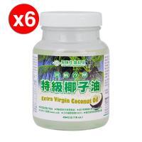 【長庚生技】頂級冷壓特級椰子油6罐 (454g/罐)