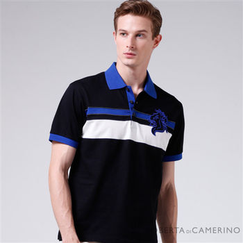 ROBERTA諾貝達 台灣製 嚴選合身版 純棉短袖POLO衫 RAB21-99黑色