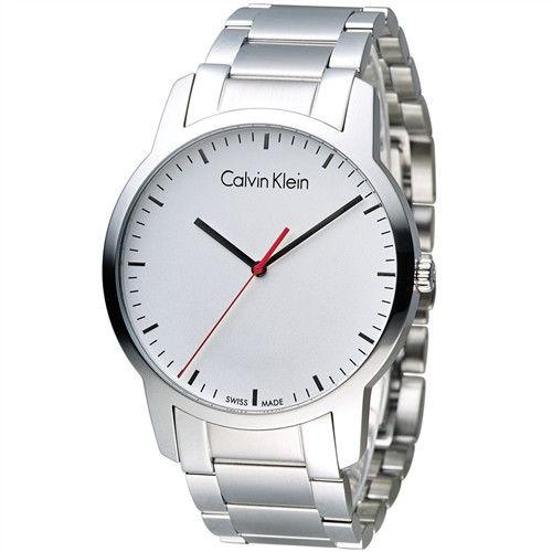 CK Calvin Klein 城市經典簡約石英腕錶 K2G2G1Z6 白