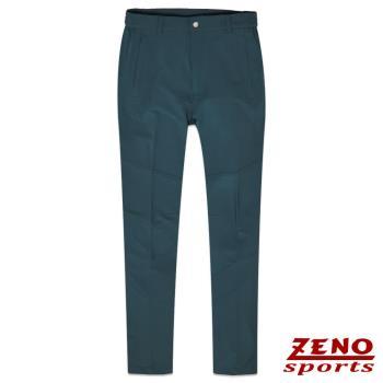 ZENO傑諾 抗UV吸排四面彈力休閒褲‧暗藍M~3L