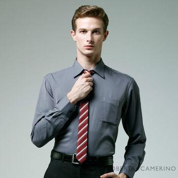 ROBERTA諾貝達 台灣製 嚴選穿搭 防皺舒適長袖襯衫RDC47-95深灰