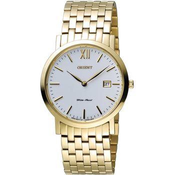 ORIENT 東方錶 OLD SCHOOL系列 復古風簡約石英錶 FGW00001W 金色