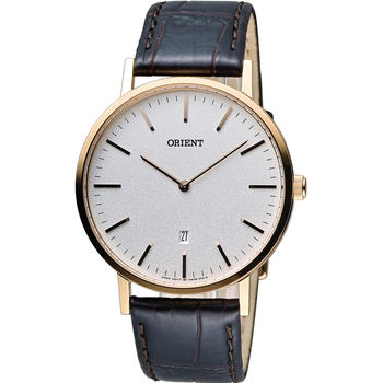 ORIENT 東方錶 SLIM系列 極簡風格石英錶 FGW05002W  玫瑰金色