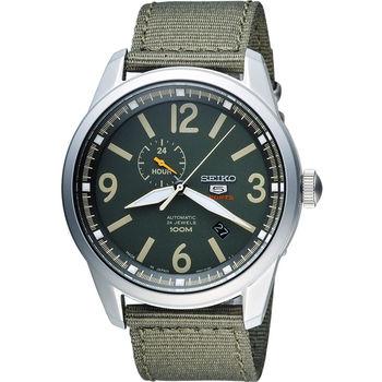 SEIKO 精工 經典五號盾牌軍用風格機械錶 4R37-01D0G 綠  SSA299J1