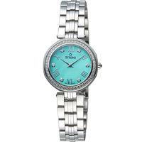 TITONI 梅花錶優雅伊人時尚腕錶 TQ42938S-DB-550 湖水綠