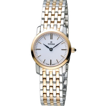 【TITONI 梅花錶】SLENDERLINE纖薄系列-玫瑰金女錶(TQ42918SRG-583)