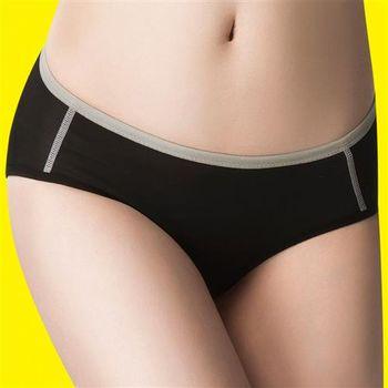 嬪婷 陽光運動系列 M-LL 低腰平口褲(個性黑)