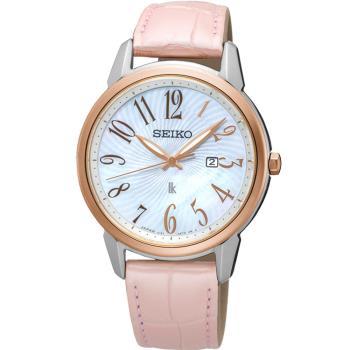 SEIKO 精工 LUKIA 快樂好時光時尚腕錶 V137-0CG0K  SUT300J1 皮帶(32mm)