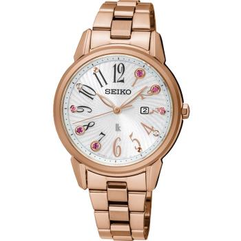 SEIKO 精工 LUKIA 快樂好時光時尚腕錶 V137-0CG0G  SUT302J1 玫瑰金色(32mm)