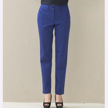 NE純粹本質*P001WNY靛藍色~絕美褲型~立裁結構式小直筒長褲-,