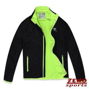 ZENO傑諾 防潑水抗風戶外輕量運動外套‧黑色M-XXL